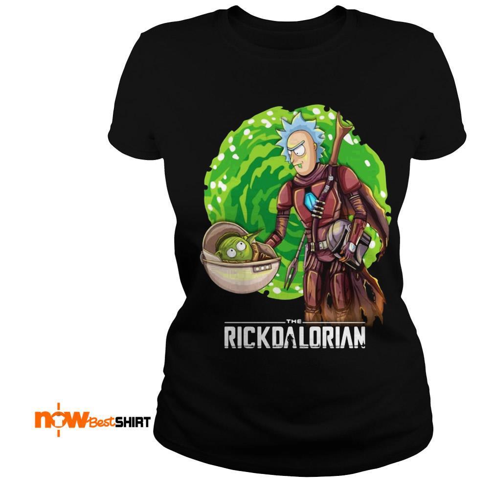 The Rickdalorian Baby Yoda And Rick Morty Ladies Tee