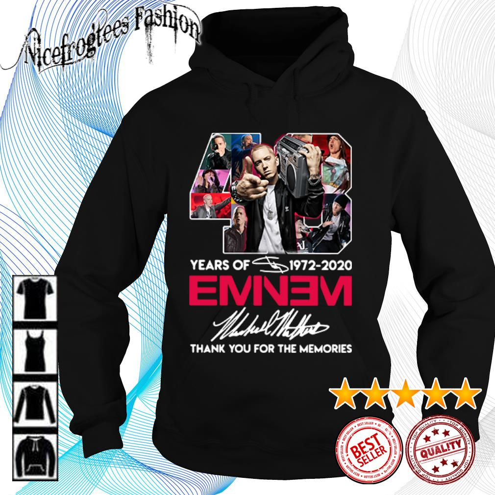 48 years of 1972 2020 Eminem thank you for the memories s hoodie