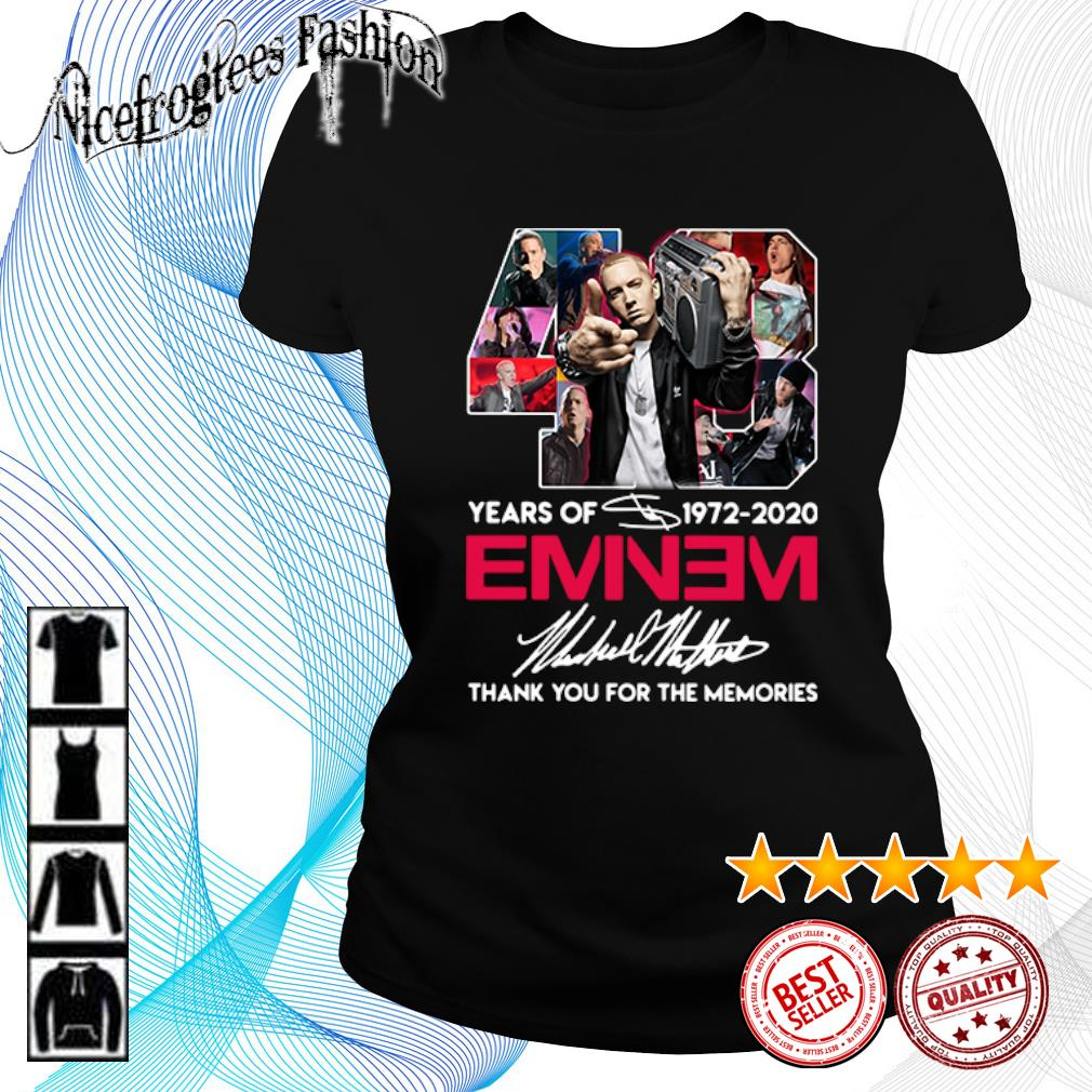 48 years of 1972 2020 Eminem thank you for the memories s ladies-tee