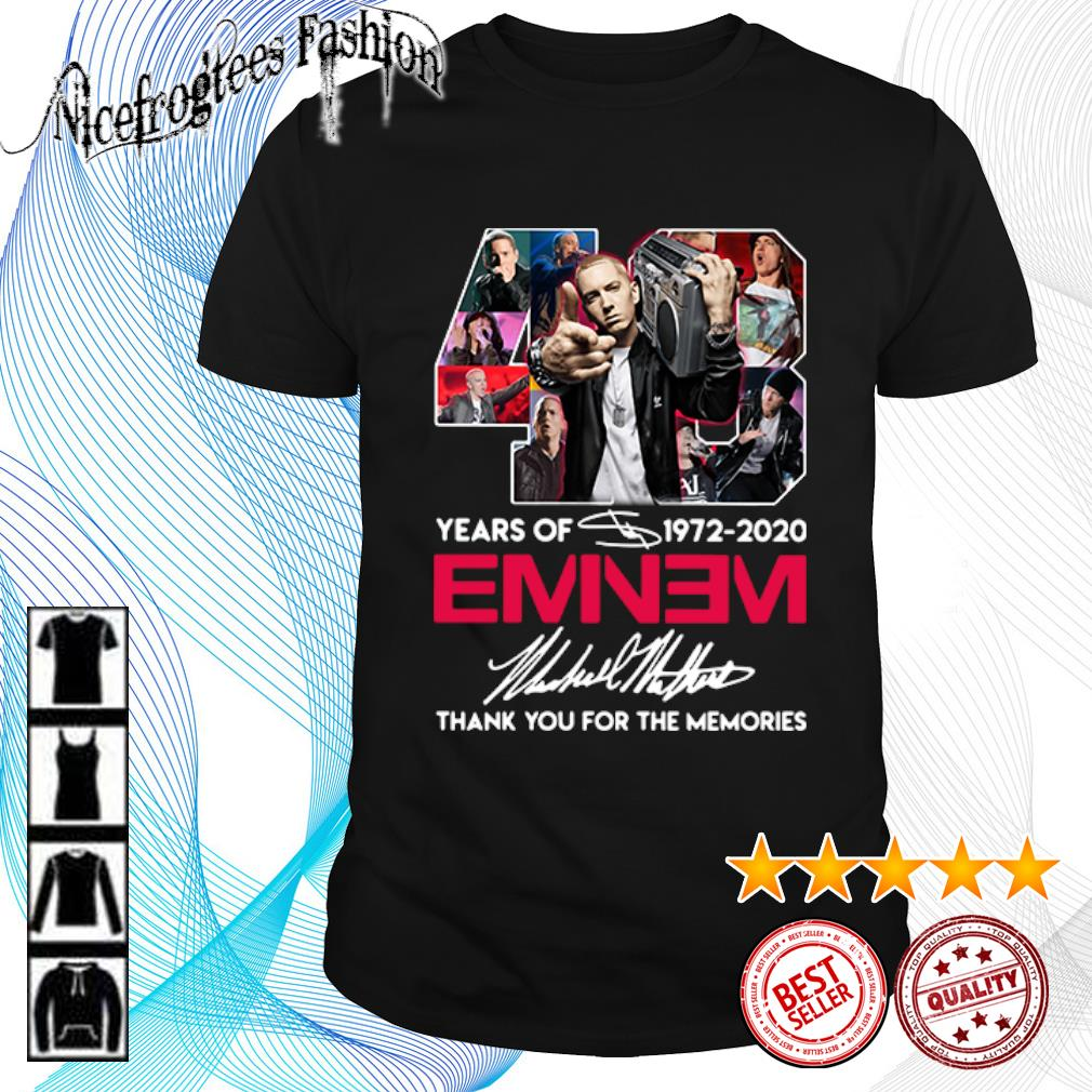 48 years of 1972 2020 Eminem thank you for the memories shirt