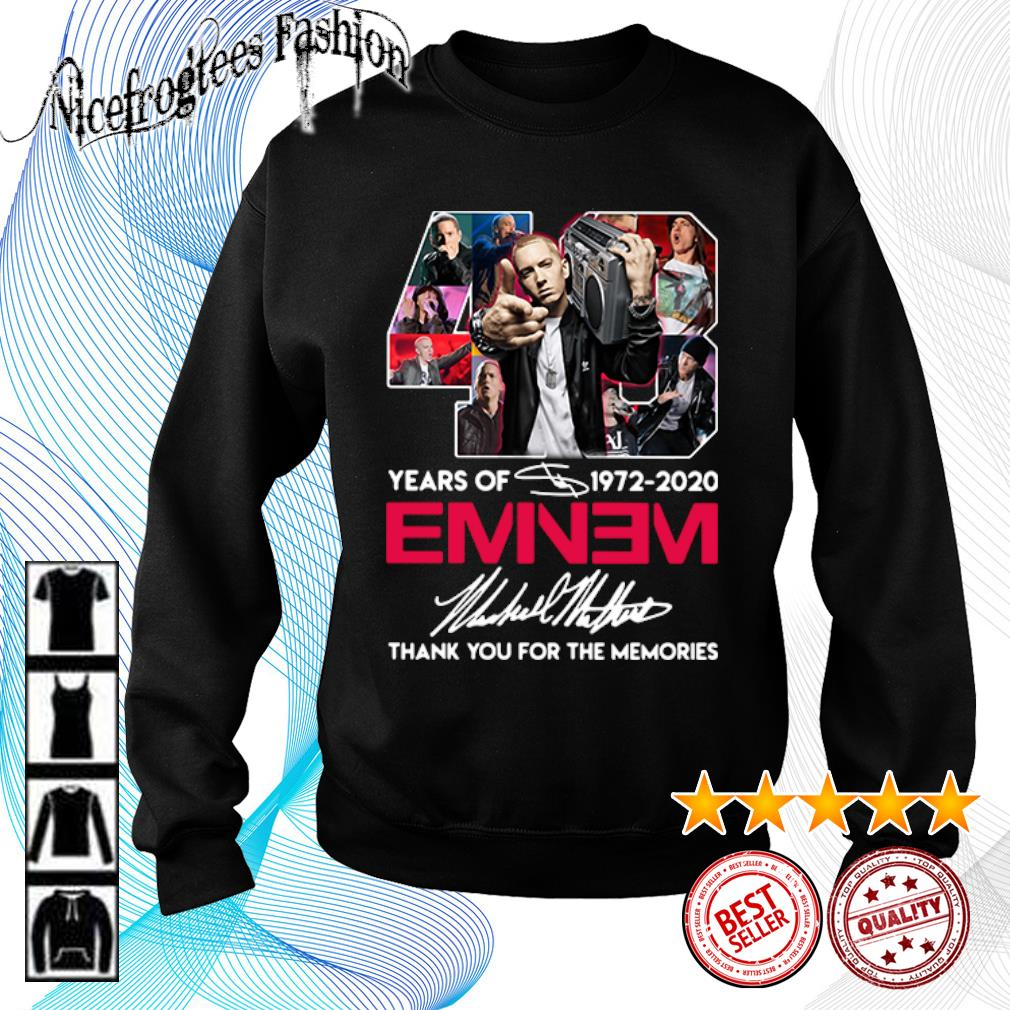 48 years of 1972 2020 Eminem thank you for the memories s sweater