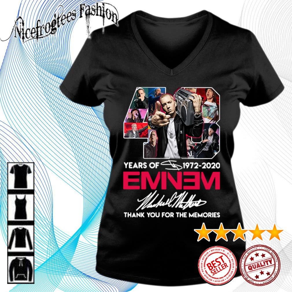 48 years of 1972 2020 Eminem thank you for the memories s v-neck-t-shirt