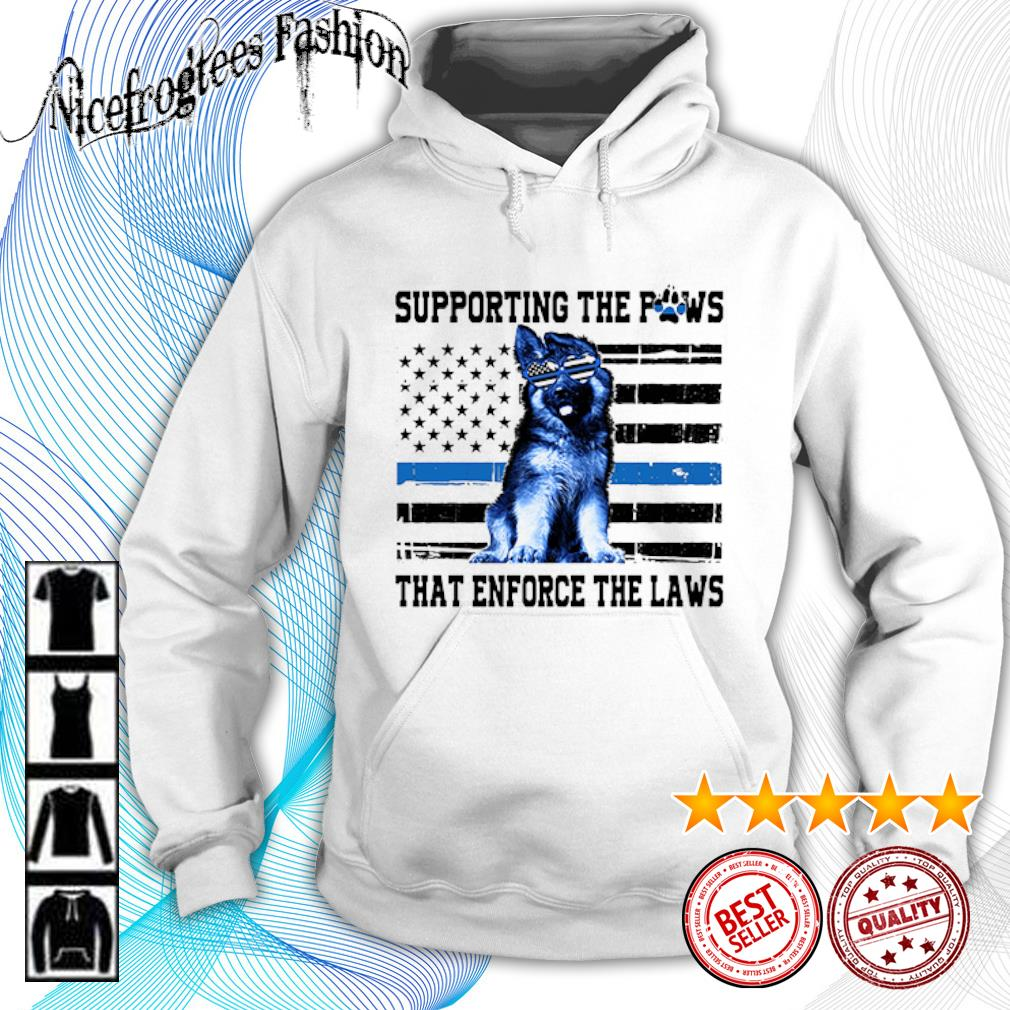 American flag Supporting the paws that enforce the laws s hoodie