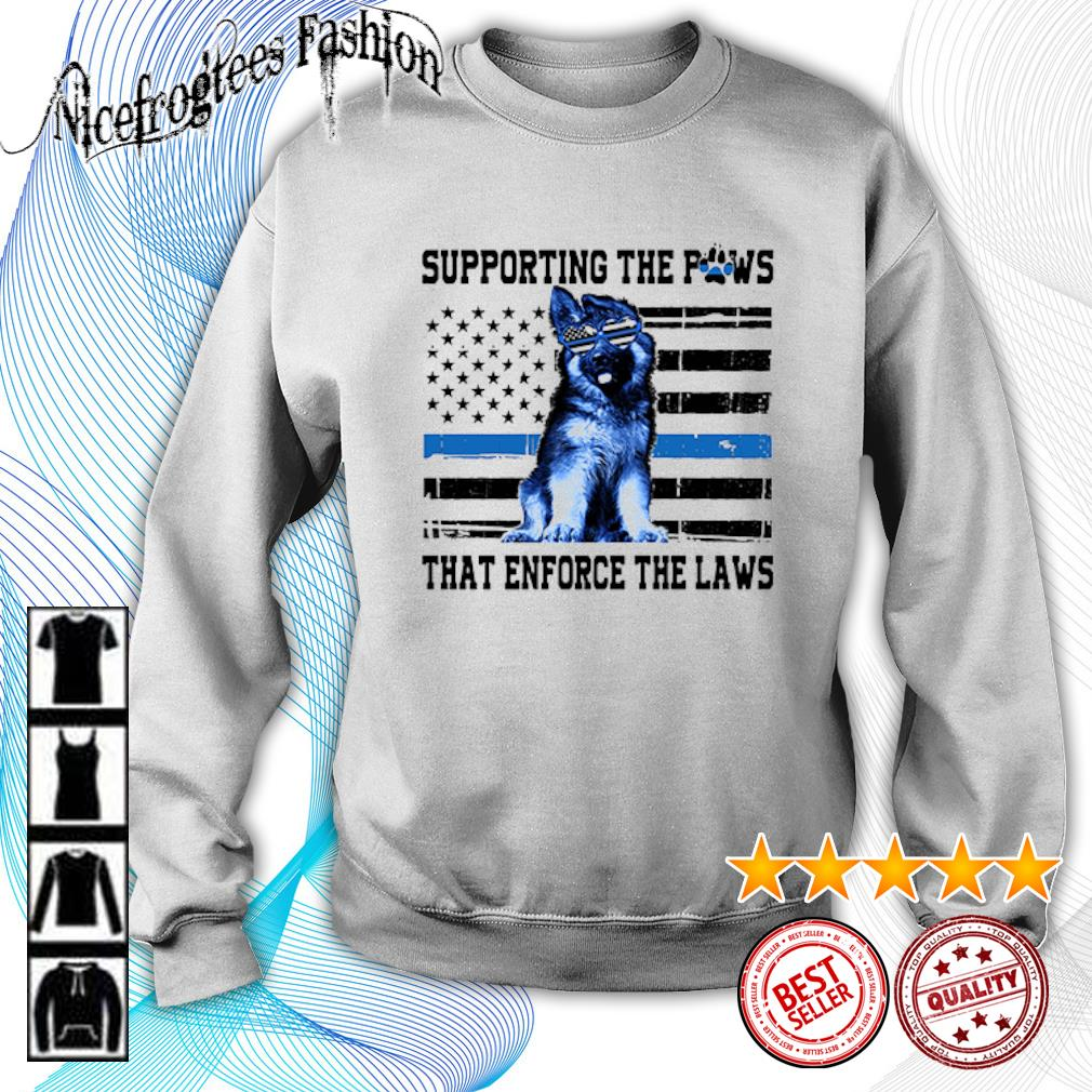 American flag Supporting the paws that enforce the laws s sweater