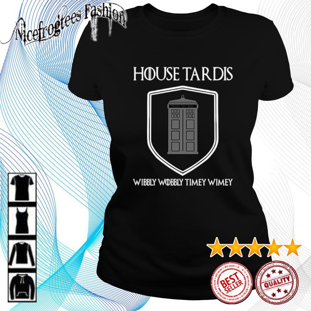 House Tardis wibbly wobbly timey wimey s ladies-tee