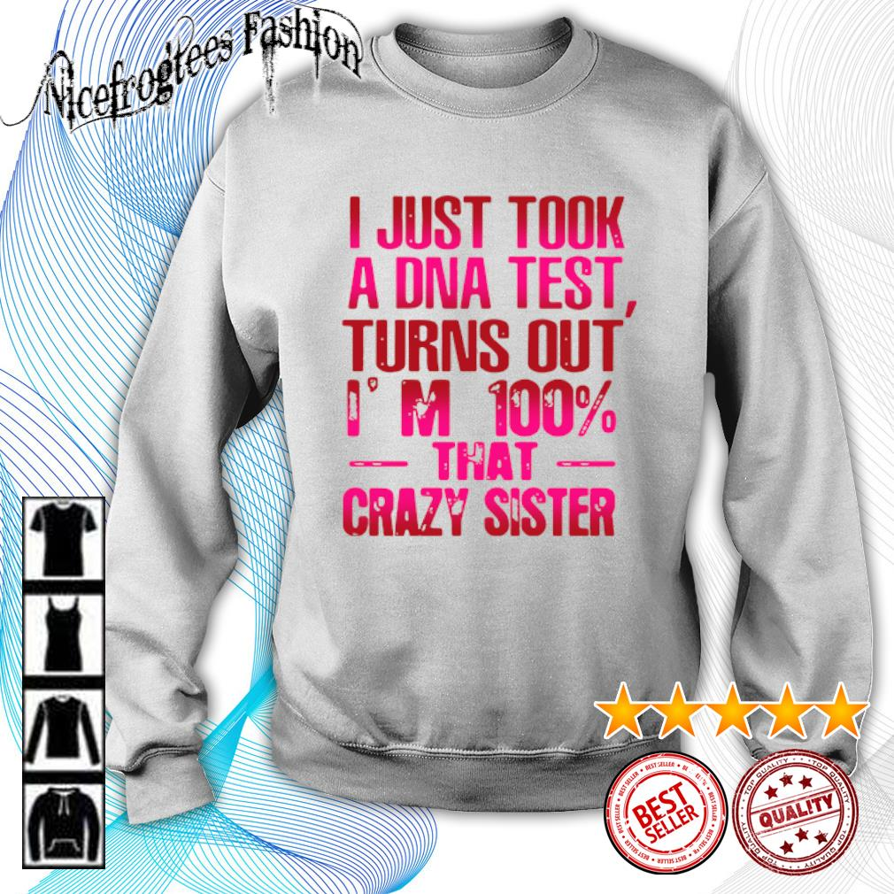 I just took a DNA test turns out I'm 100% that crazy sister s sweater