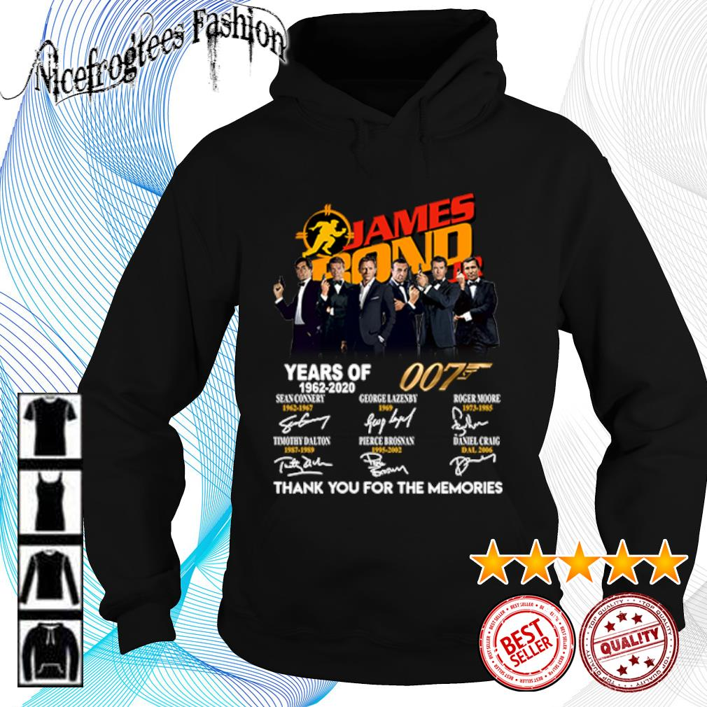 James Bond 007 Years of 1962 2020 thank you for the memories s hoodie
