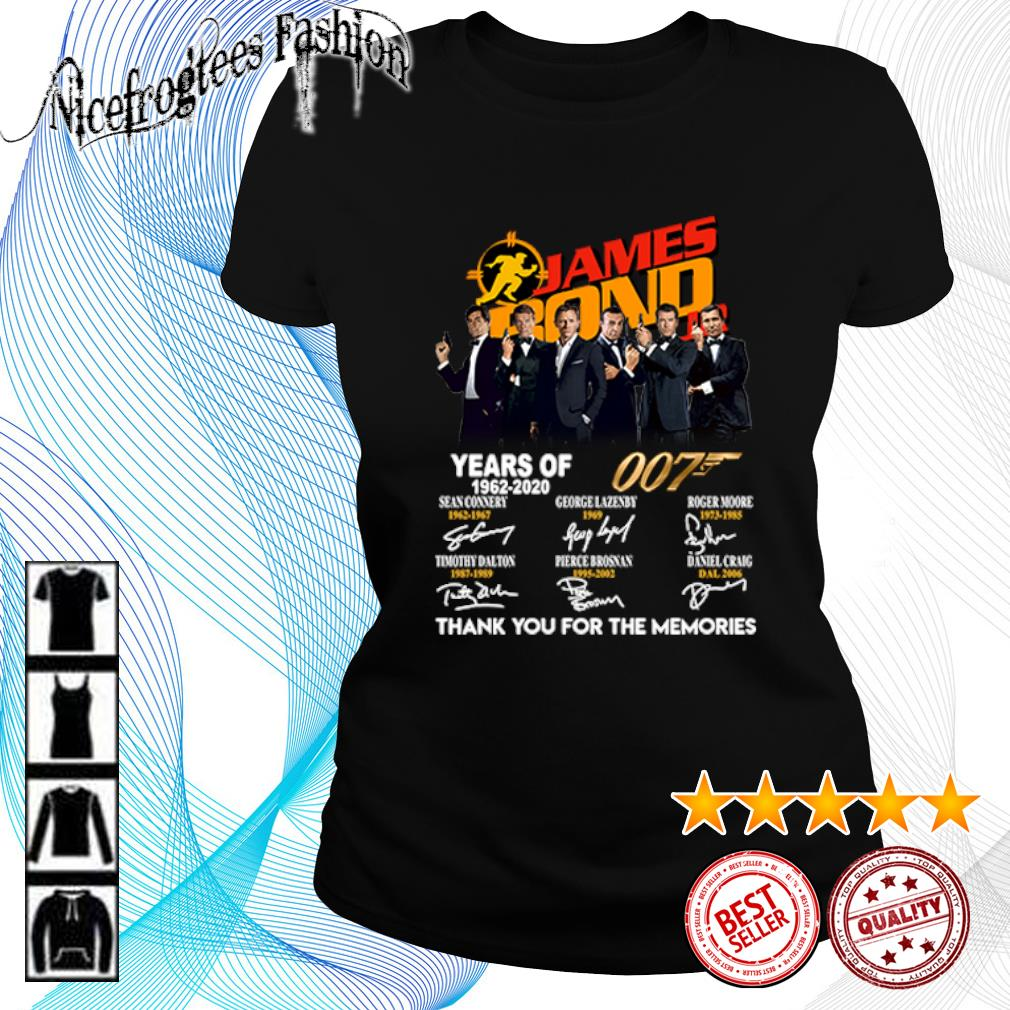 James Bond 007 Years of 1962 2020 thank you for the memories s ladies-tee