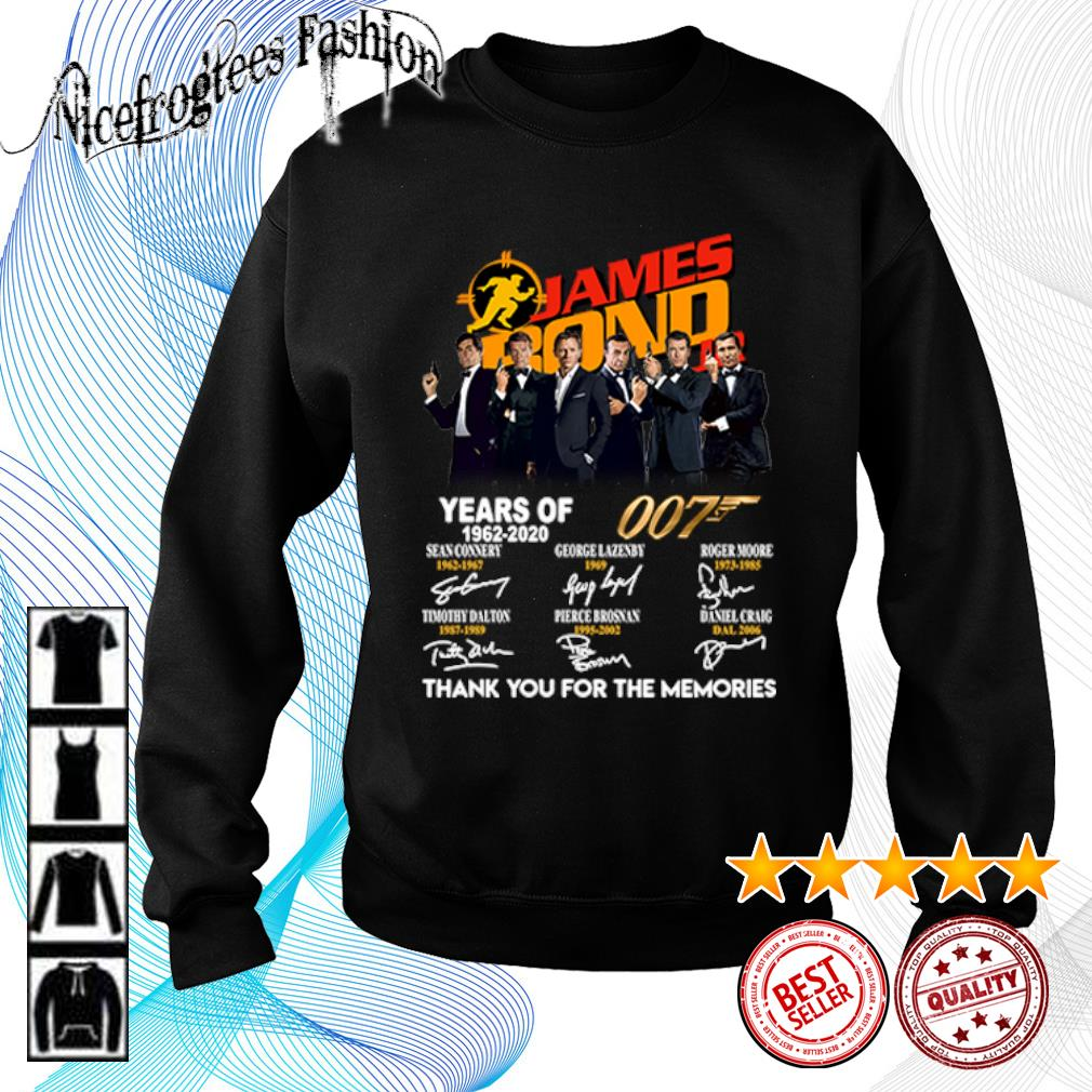 James Bond 007 Years of 1962 2020 thank you for the memories s sweater