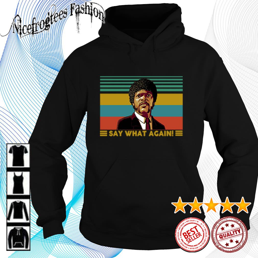 Jules Winnfield Say what again vintage s hoodie