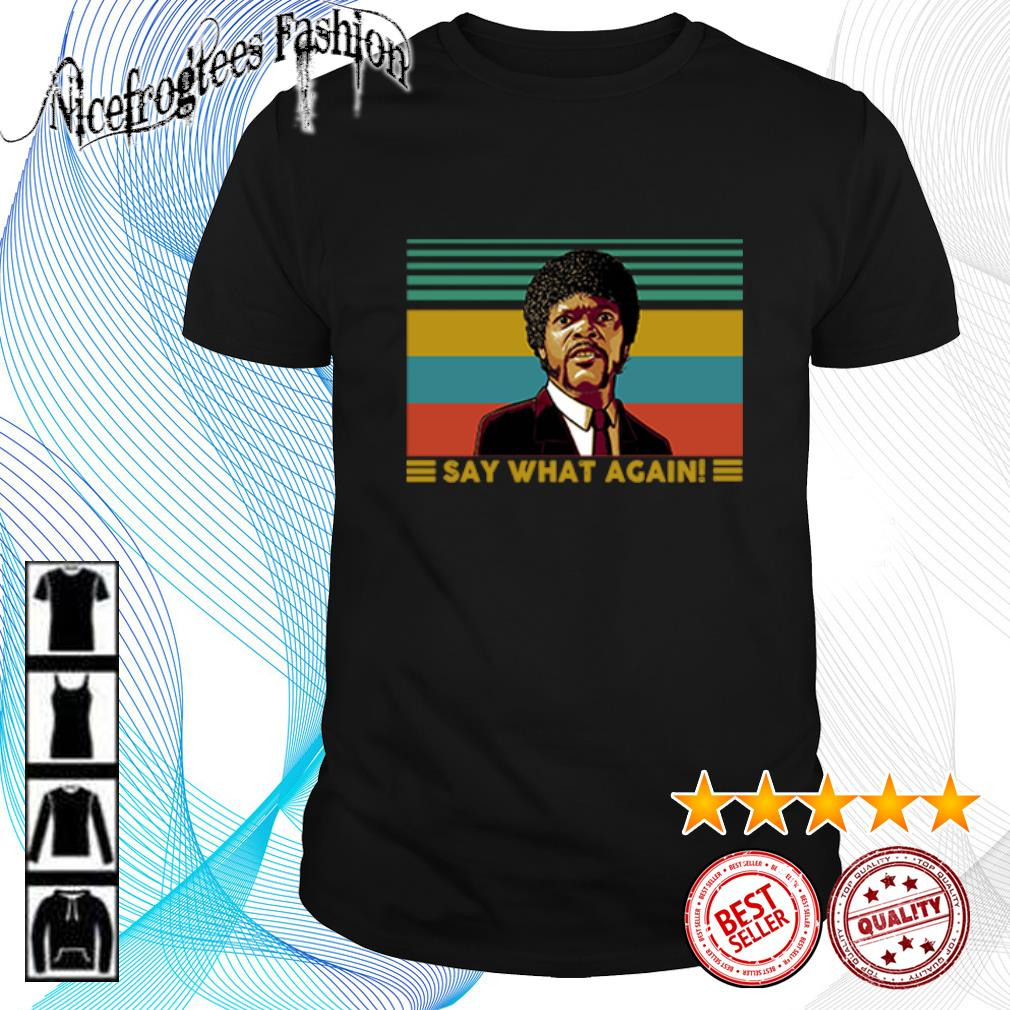 Jules Winnfield Say what again vintage shirt