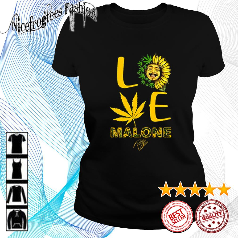 Love sunflower and weed Cannabis Malone signature s ladies-tee