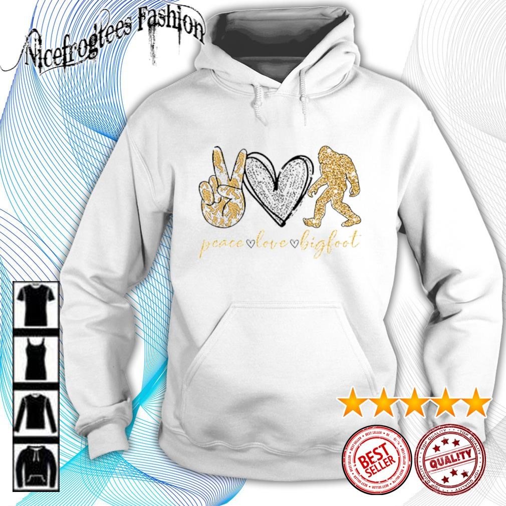 Peace love bigfoot diamond s hoodie