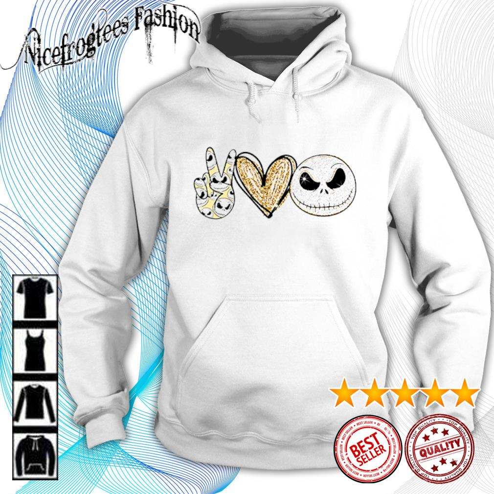 Peace love Jack Skellington diamond s hoodie