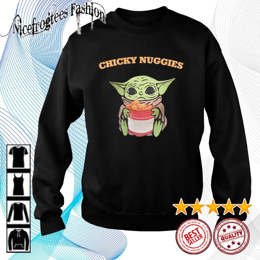 The Mandalorian baby Yoda hug Chicky Nuggies s sweater