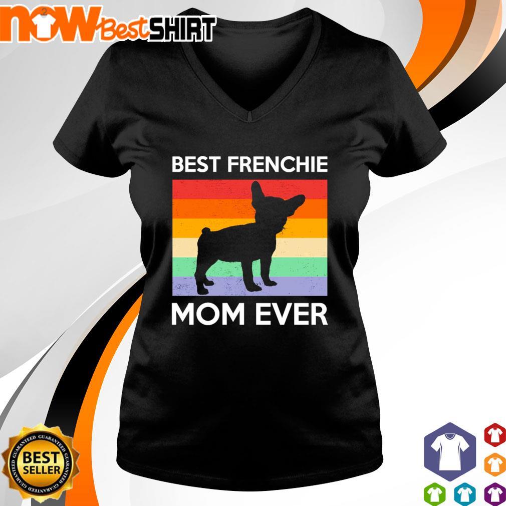 Best Frenchie Mom Ever vintage s v-neck-t-shirt