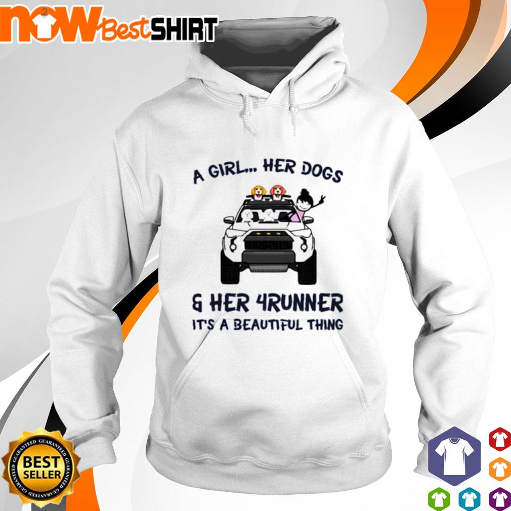 Corgi a girl her dogs her Jeep It's a beautiful thing s hoodie