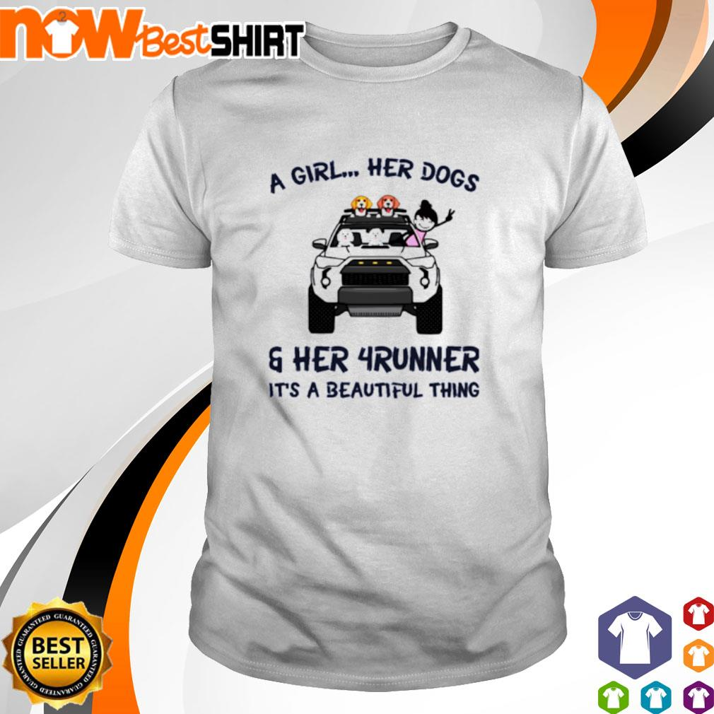 Corgi a girl her dogs her Jeep It's a beautiful thing shirt