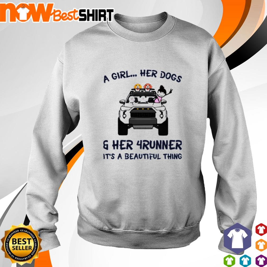 Corgi a girl her dogs her Jeep It's a beautiful thing s sweater