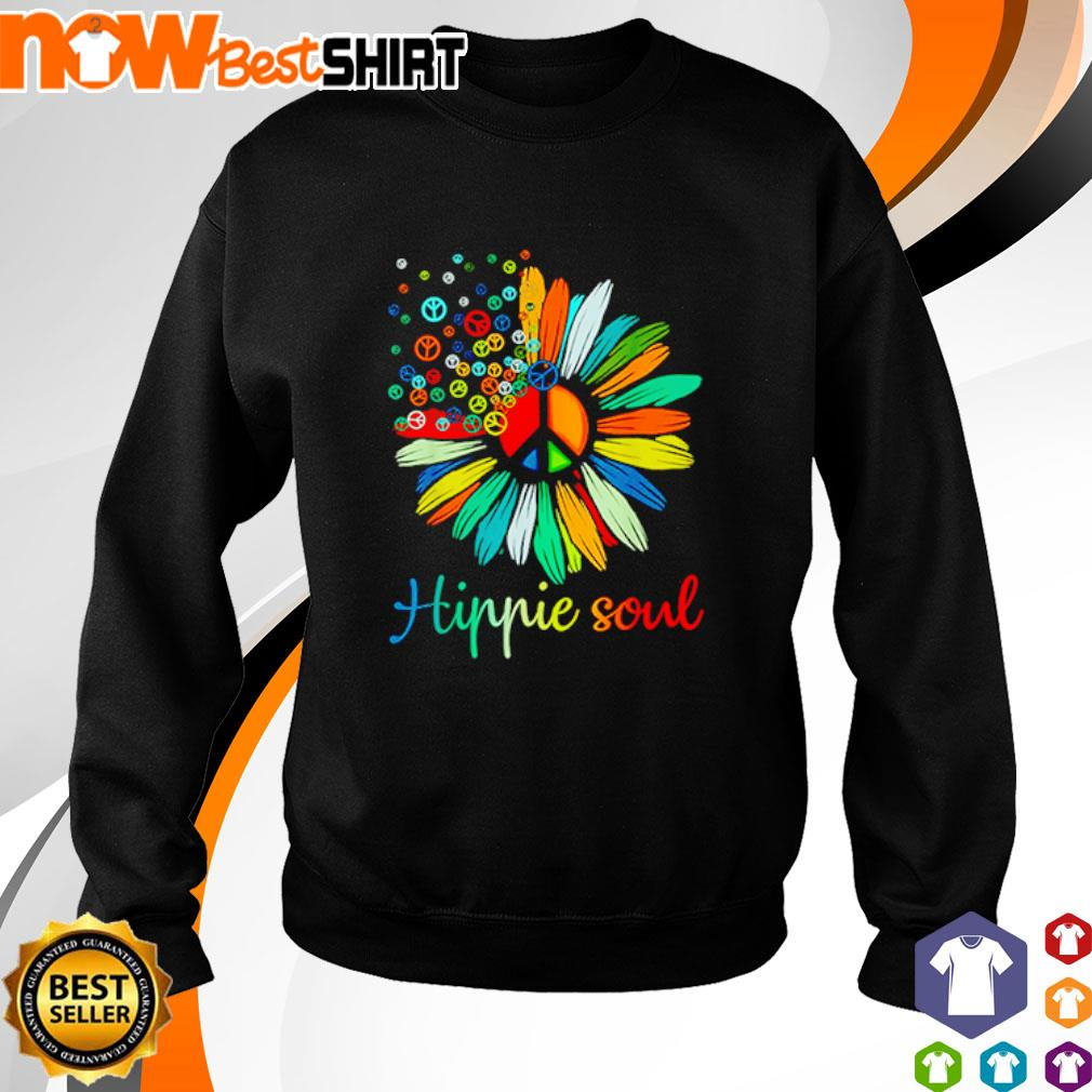 Flower Daisy peace color hippie soul s sweater