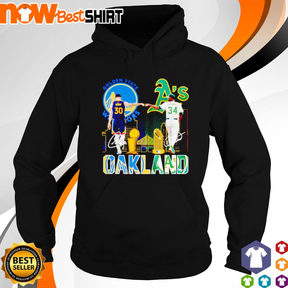 Golden State Warriors Stephen Curry and Oakland Athletics Dave Stewart Oakland s hoodie