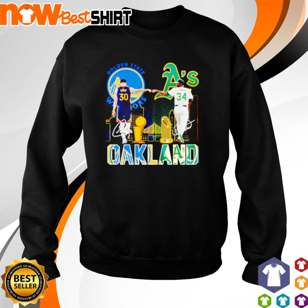 Golden State Warriors Stephen Curry and Oakland Athletics Dave Stewart Oakland s sweater