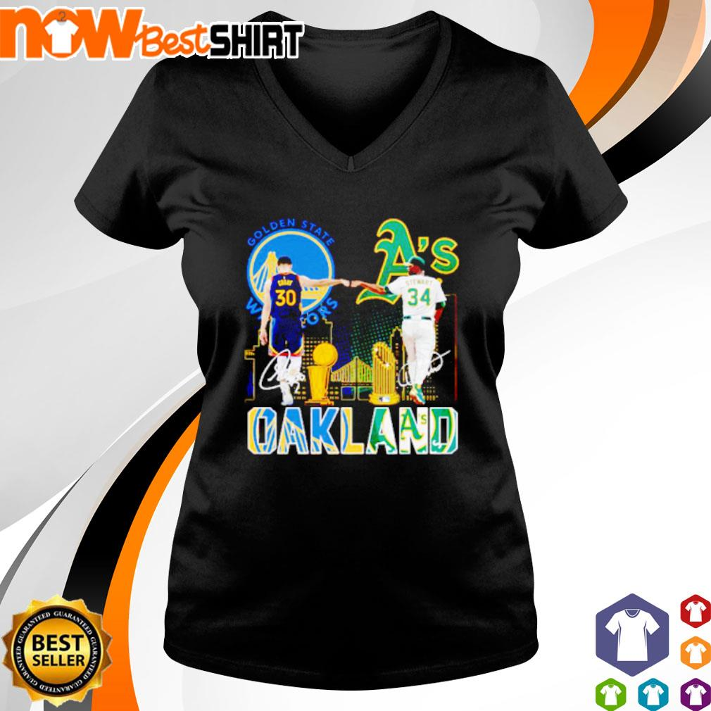 Golden State Warriors Stephen Curry and Oakland Athletics Dave Stewart Oakland s v-neck-t-shirt