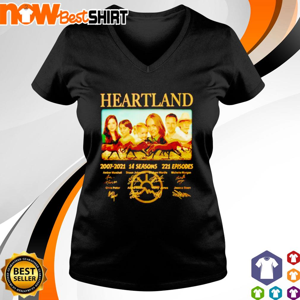Heartland 2007 - 2021 14 seasons 221 episodes signatures s v-neck-t-shirt