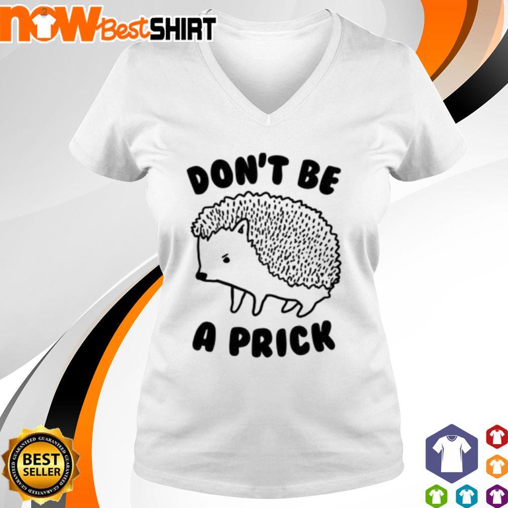 Hedgehog don't be a Prick s v-neck-t-shirt