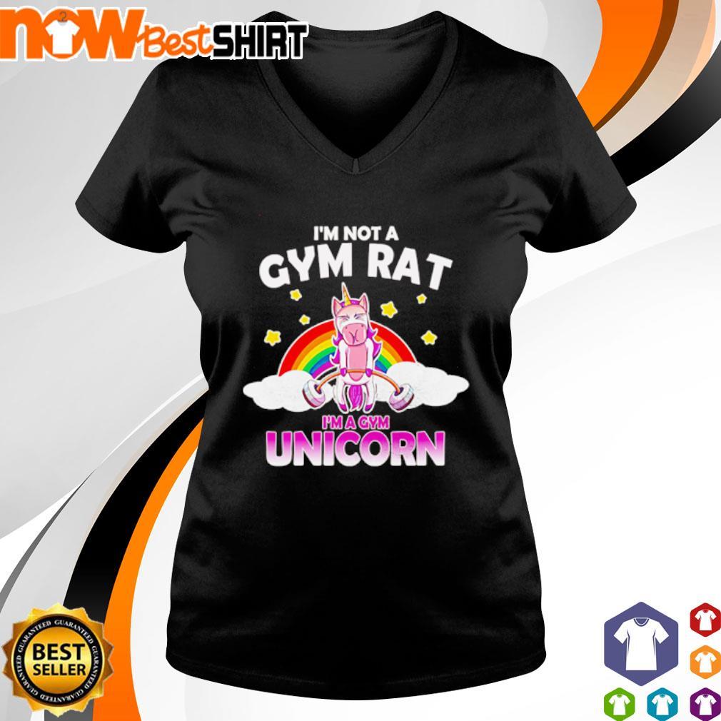 I'm not a gym rat I'm a gym Unicorn s v-neck-t-shirt