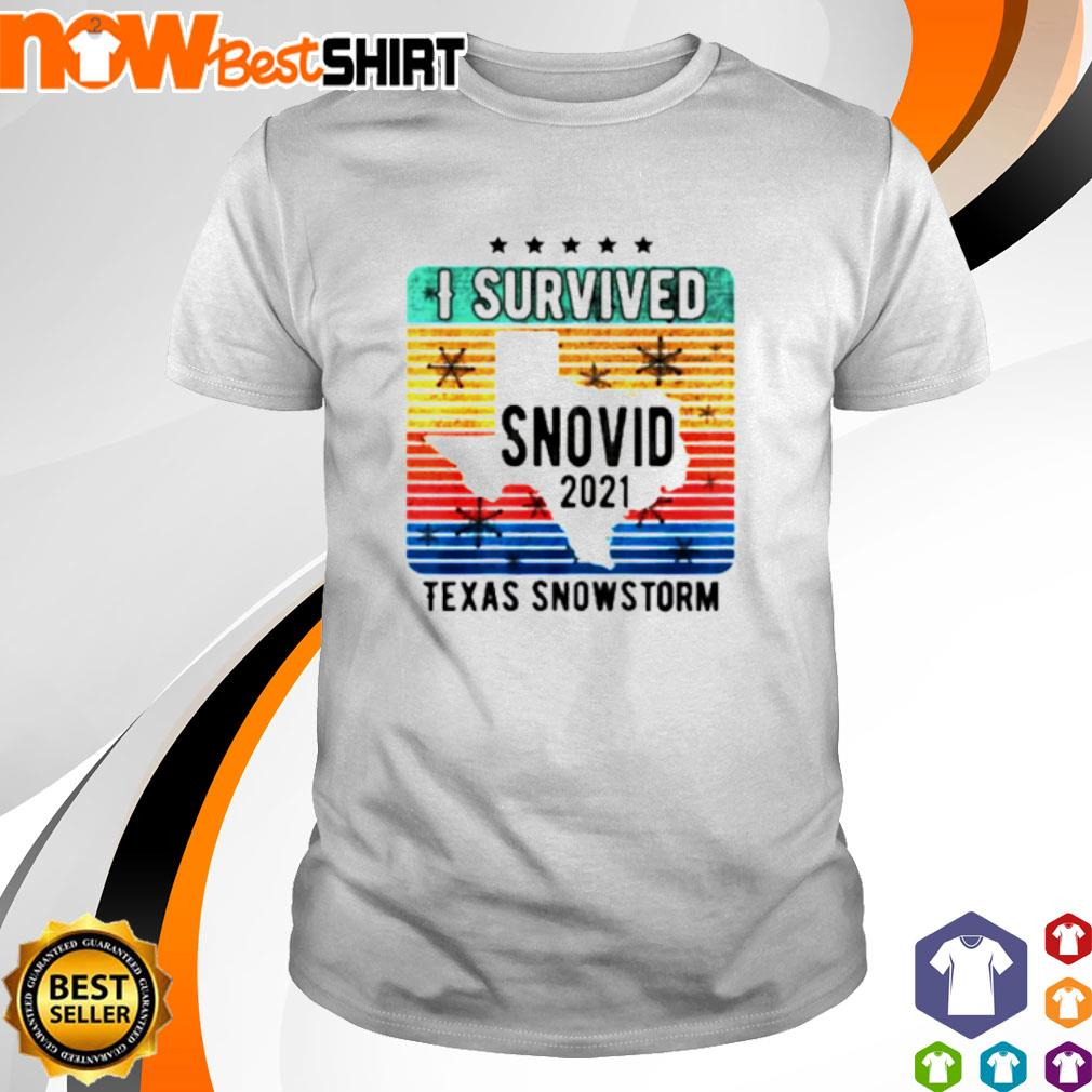 I survived snovid 2021 Texas snowstorm vintage shirt