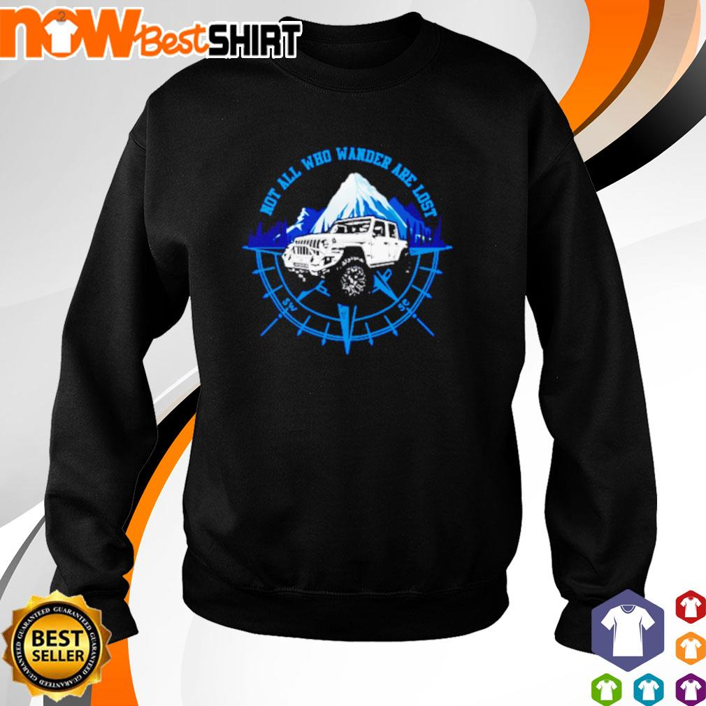 Jeep not all who wander are lost s sweater