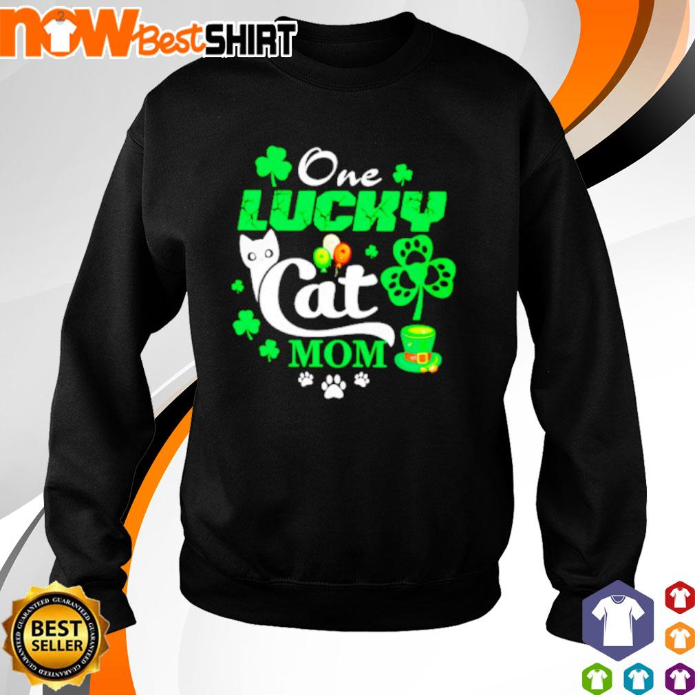 One lucky Cat mom St. Patrick's Day s sweater