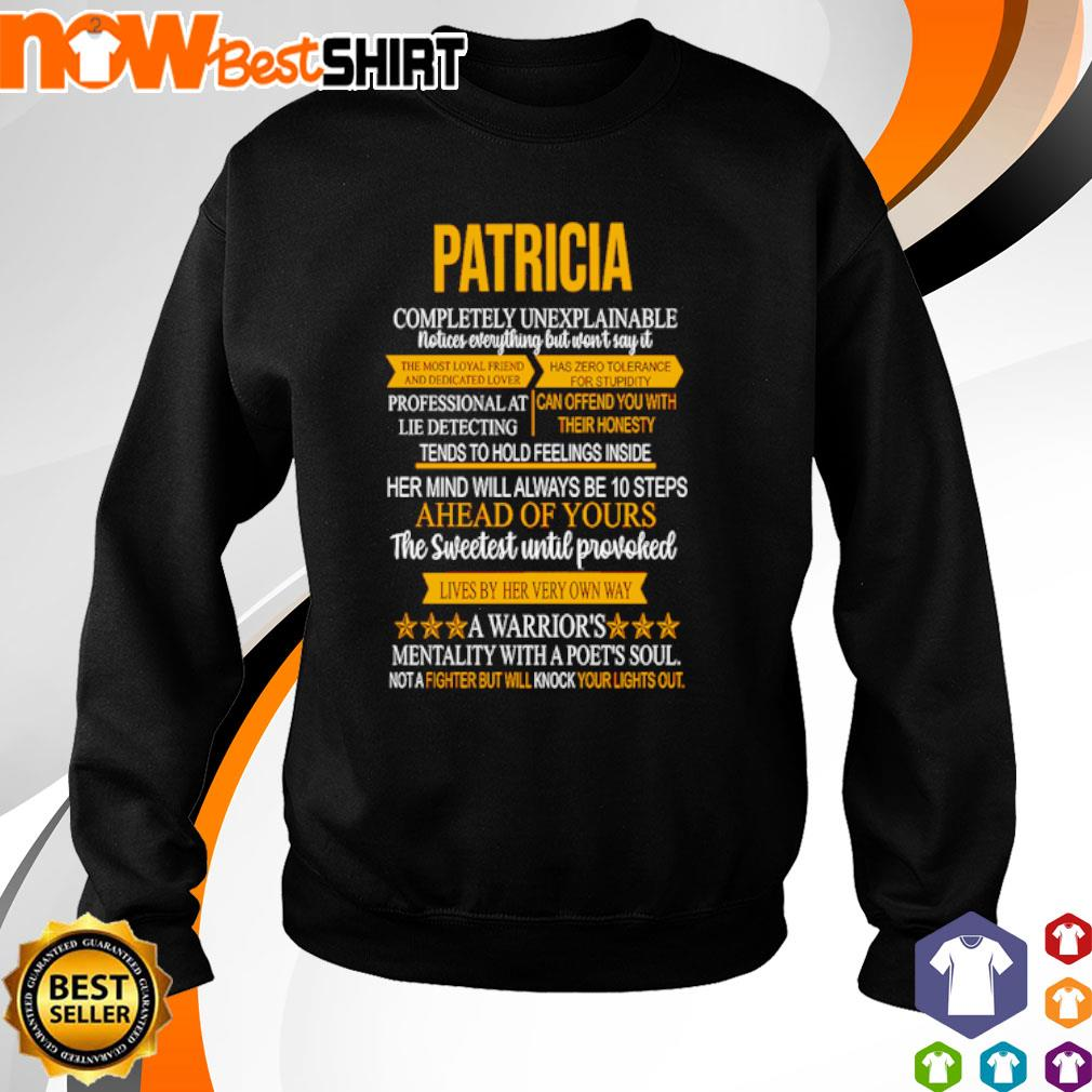 Patricia completely unexplainable notices everything but won't say it s sweater