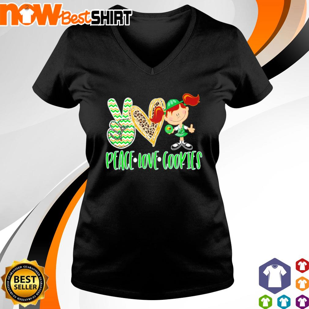 Peace love Cookies s v-neck-t-shirt