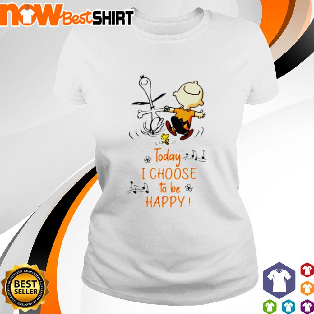 Snoopy and Charlie Brown today I choose to be happy s ladies-tee