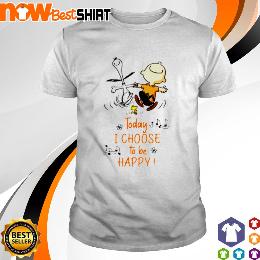Snoopy and Charlie Brown today I choose to be happy shirt