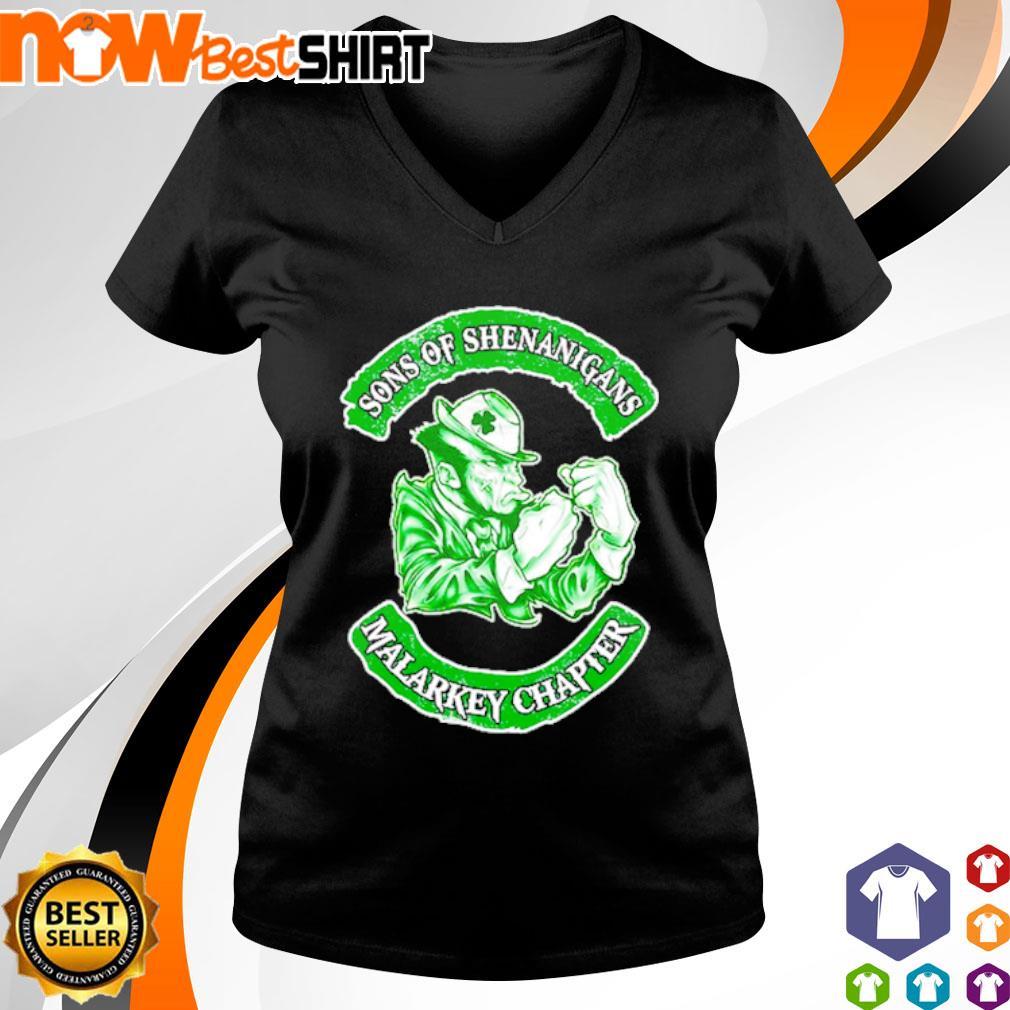 Sons of Shenanigans Malarkey Chapter s v-neck-t-shirt