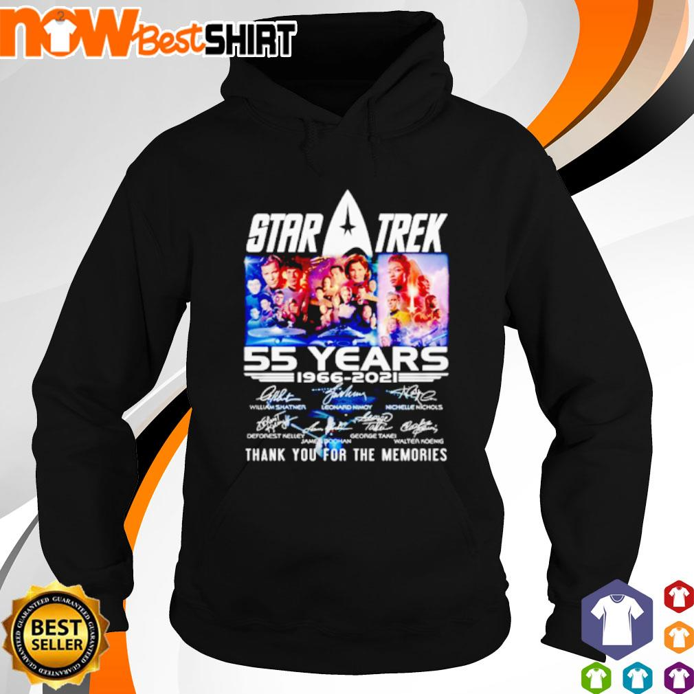 Star Trek 55 years 1966 - 2021 thank you for the memories signatures s hoodie