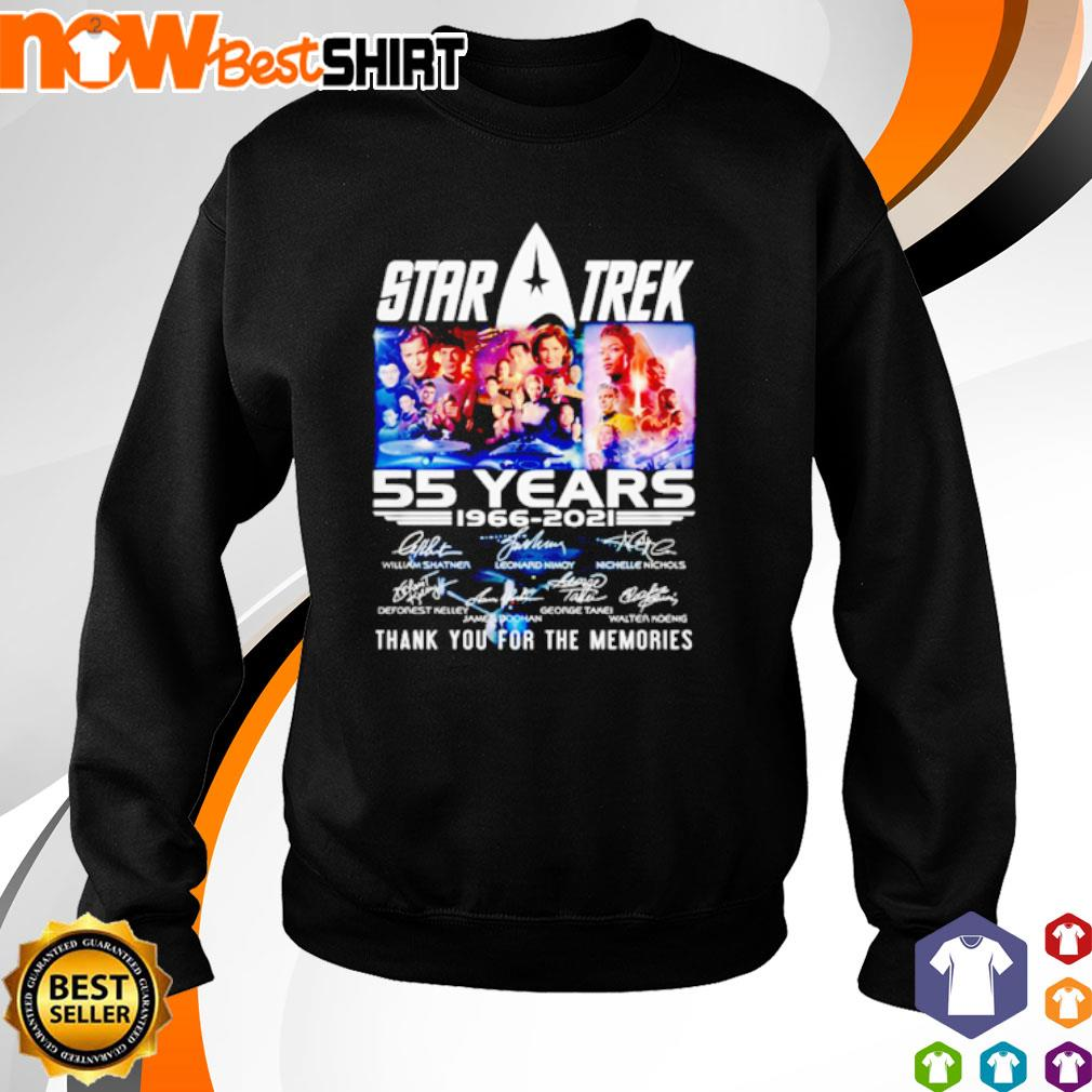 Star Trek 55 years 1966 - 2021 thank you for the memories signatures s sweater