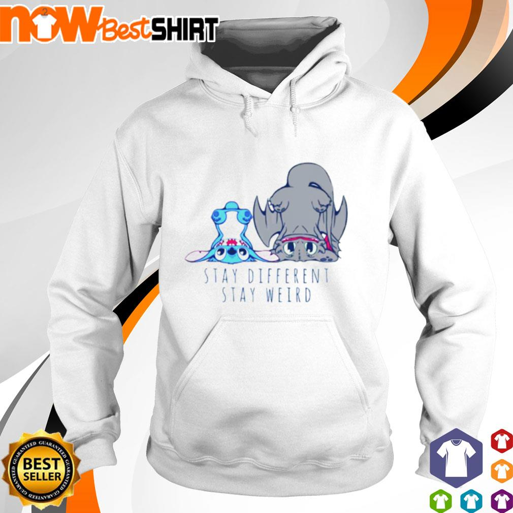 Stitch Toothless stay different stay weird s hoodie