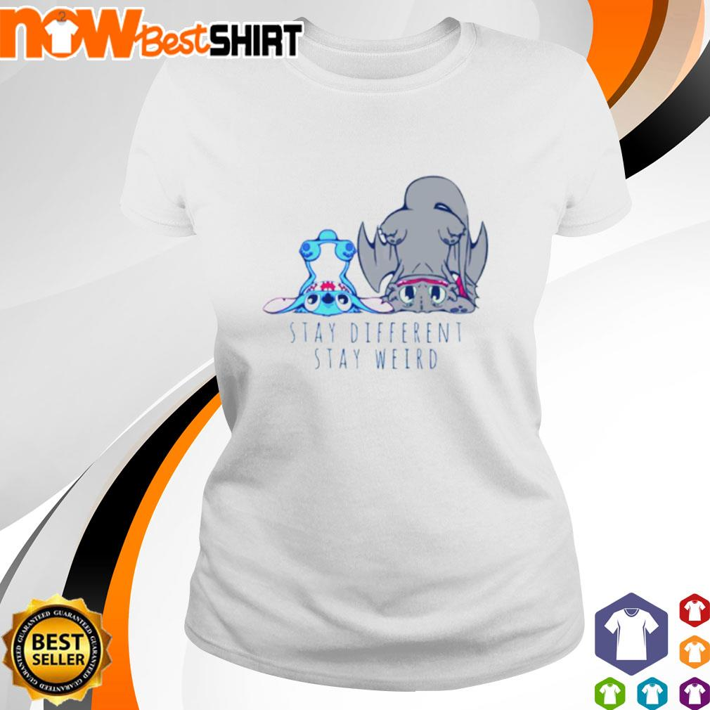 Stitch Toothless stay different stay weird s ladies-tee