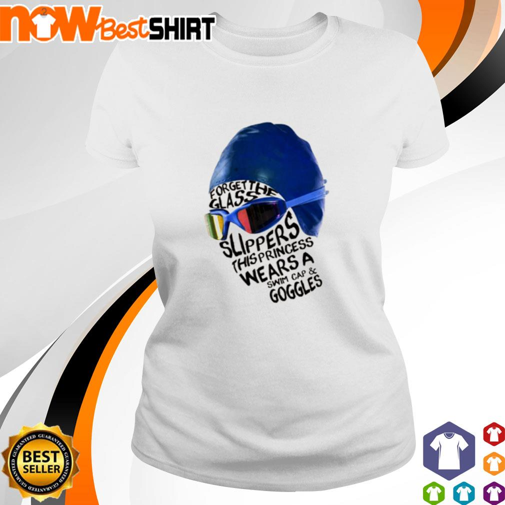Swimming Princess forget the glass slippers this princess wears a swim s ladies-tee
