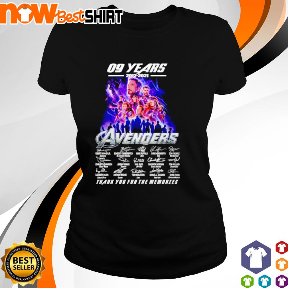 09 Years 2012 - 2021 Avengers thank you for the memories signatures s ladies-tee
