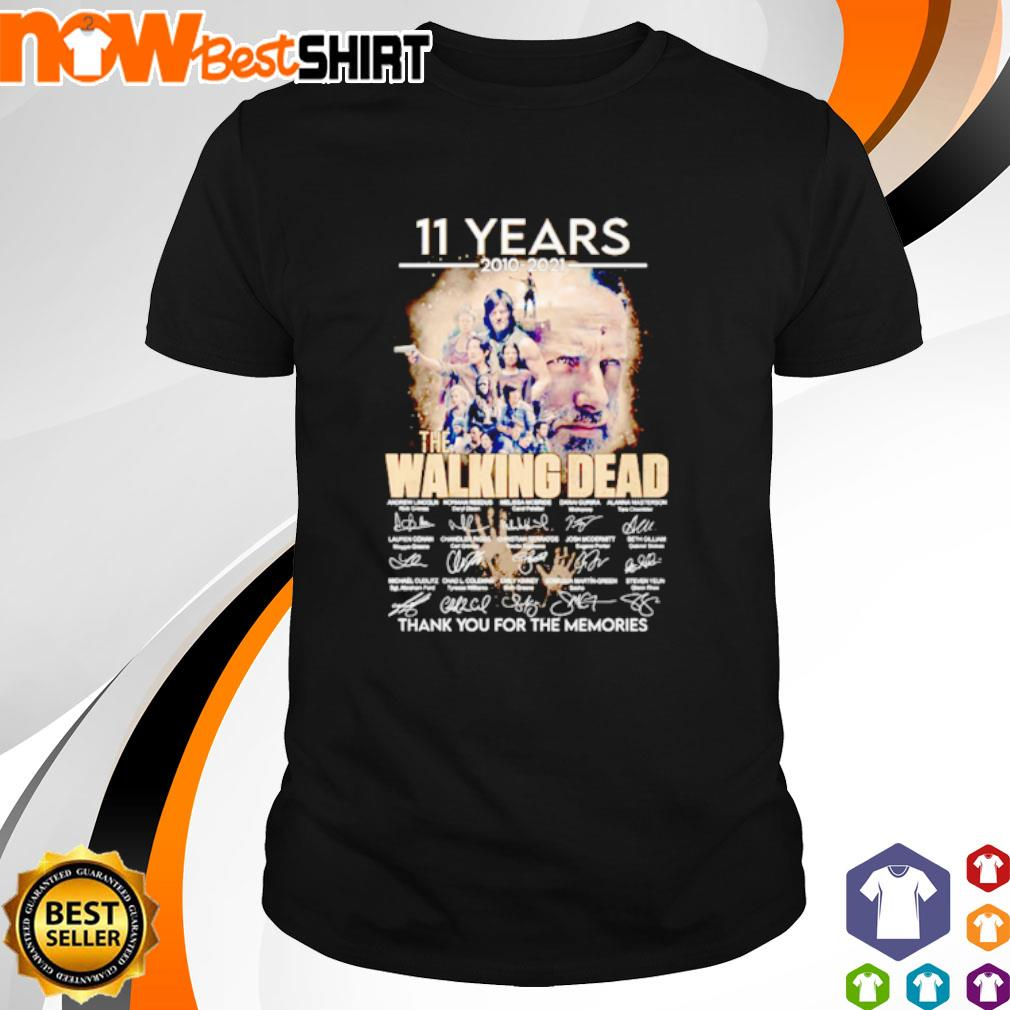 11 Years 2010 - 2021 The Walking Dead thank you for the memories signatures shirt