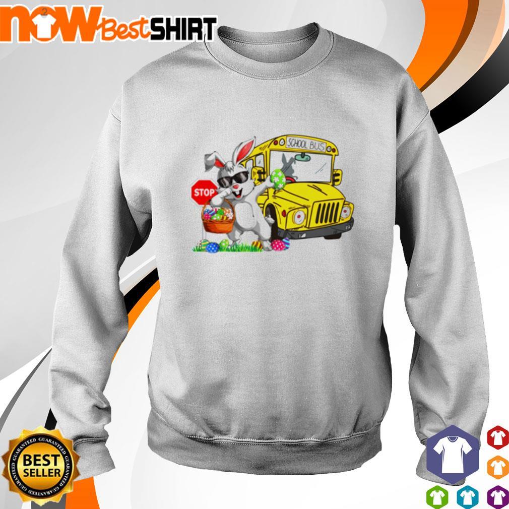 Happy Easter Rabbit dadding stop school bus s sweater