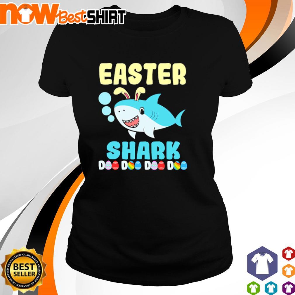 Happy Easter Shark Doo Doo Doo Doo s ladies-tee