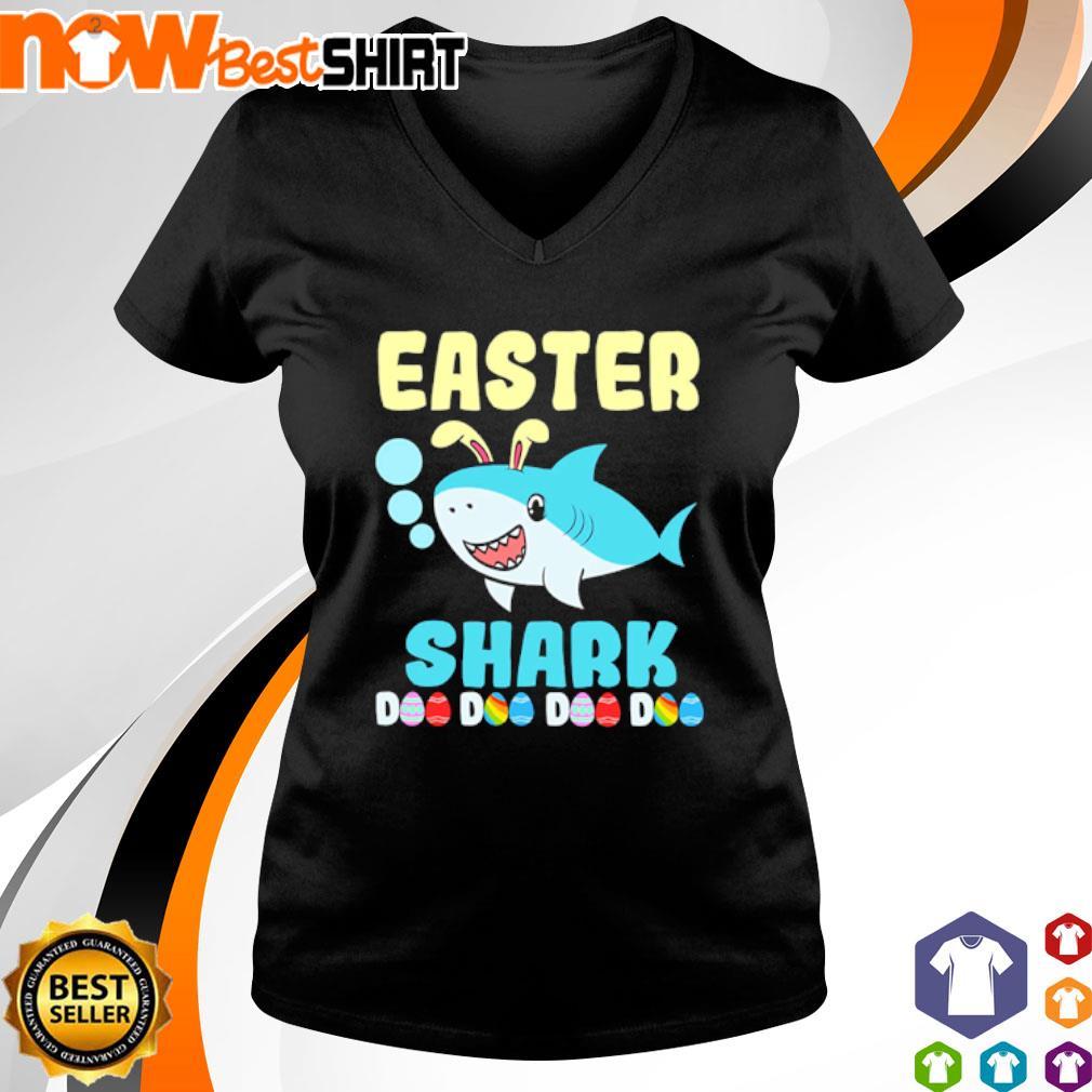 Happy Easter Shark Doo Doo Doo Doo s v-neck-t-shirt