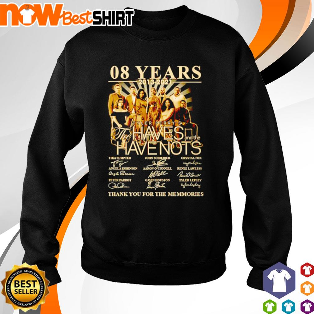 08 Years 2013 - 2021 Tyler Perry's The Haves and the Have Nots signatures s sweater