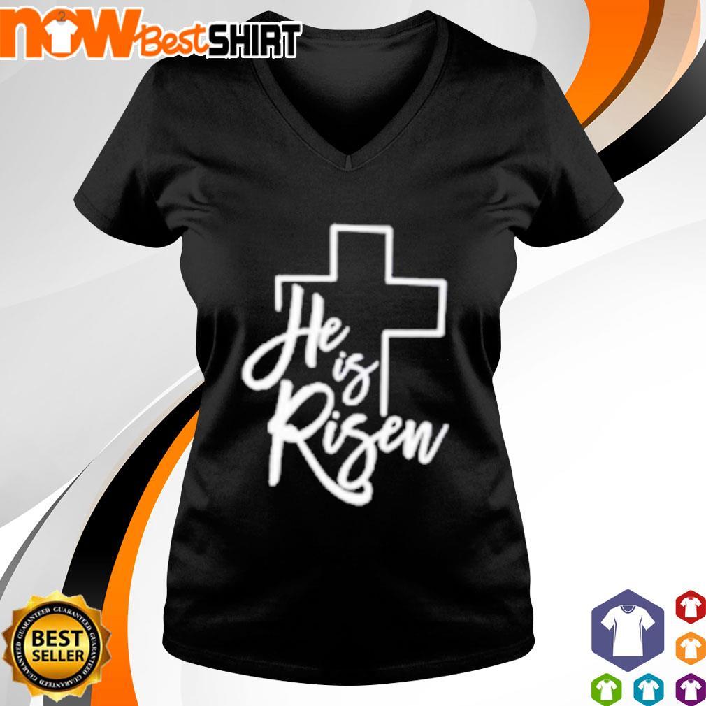 God he is risen s v-neck-t-shirt
